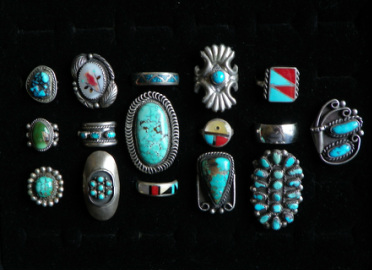 Native American Turqouise Jewelry rings - The Lost American Art Gallery